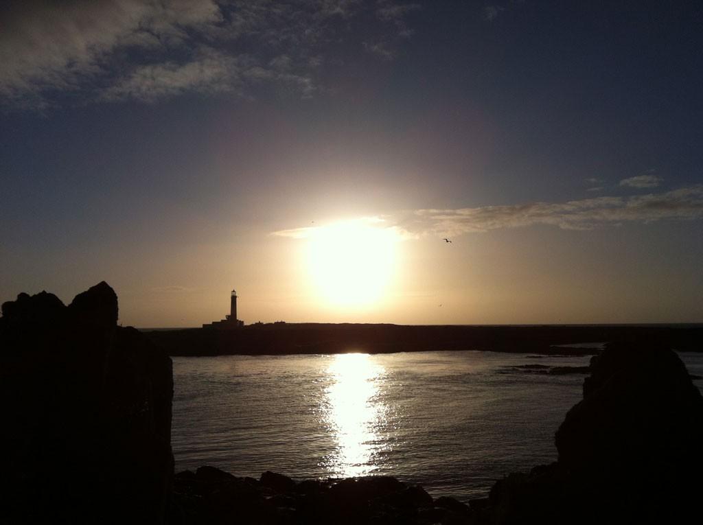 Sunset over Mew Island
