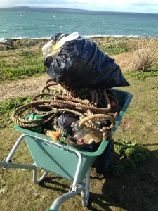 Rubbish from coastline clean up