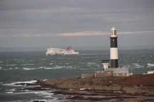 StenaLine ferry passing Mew Island. Photographer Ian McKee.